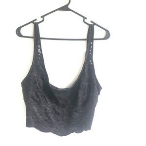 Free People Black Lace Bralette Large
